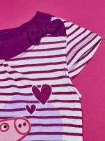 Fioletowa asymetryczna tunika dla dziewczynki ŚWINKA PEPPA