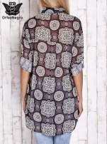 Fioletowa koszula w ornamenty kwiatowe                                  zdj.                                  2