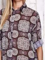 Fioletowa koszula w ornamenty kwiatowe