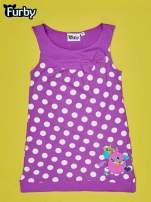 Fioletowa sukienka w groszki dla dziewczynki FURBY                                  zdj.                                  1