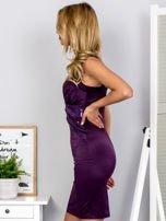 Fioletowa sukienka z cekinowymi wstawkami                                  zdj.                                  3