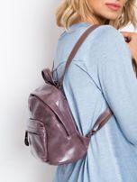 Fioletowy plecak z eko skóry                                  zdj.                                  2