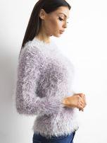 Fioletowy sweter z długim włosem i cekinami                                  zdj.                                  3