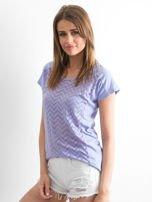 Fioletowy t-shirt w zygzaki                                  zdj.                                  3