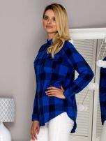 Flanelowa koszula w kratę niebieska                                  zdj.                                  5