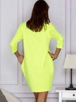 Fluo zielona sukienka LIKE A ROCK STAR                                  zdj.                                  2