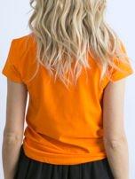 Fluopomarańczowy t-shirt Peachy                                  zdj.                                  2