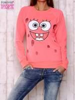 Fluoróżowa bluza z bajkowym nadrukiem