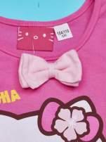 Fuksjowa sukienka dla dziewczynki z kokardką HELLO KITTY                                  zdj.                                  4