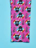 Fuksjowe legginsy dla dziewczynki z nadrukiem FURBY                                                                          zdj.                                                                         4