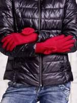 Czerwone rękawiczki z kokardką i długim ściągaczem                                                                          zdj.                                                                         2