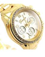 GENEVA Złoto-srebrny zegarek damski z cyrkoniami na bransolecie GENEVA                                  zdj.                                  4