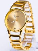 GENEVA Złoty gustowny  zegarek damski na złotej bransolecie                                  zdj.                                  1