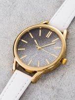GLITTER OMBRE biały zegarek damski                                  zdj.                                  3