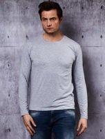Gładka bluzka męska szara z długim rękawem                                  zdj.                                  2