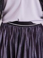 Grafitowa aksamitna spódnica do kolan                                  zdj.                                  7