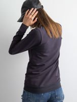 Grafitowa bluza damska basic                                  zdj.                                  2