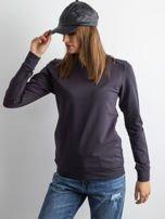 Grafitowa bluza damska basic                                  zdj.                                  4
