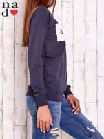 Grafitowa bluza z napisem AWESOME                                  zdj.                                  3