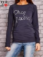 Grafitowa bluza z napisem CHCĘ PSOCIĆ                                  zdj.                                  1
