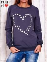 Grafitowa bluza z wzorem serca