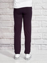 Grafitowe spodnie dresowe dla dziewczynki nadruk kota                                  zdj.                                  2