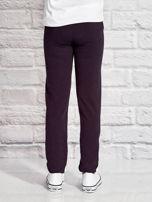 Grafitowe spodnie dresowe dla dziewczynki z pandą                                  zdj.                                  2