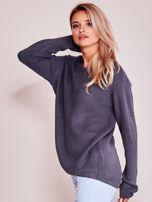 Grafitowy luźny sweter                                   zdj.                                  7