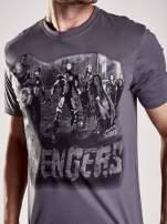 Grafitowy t-shirt męski AVENGERS                                  zdj.                                  6