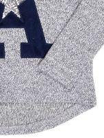 Granatowa bluza dla dziewczynki z literą                                  zdj.                                  7