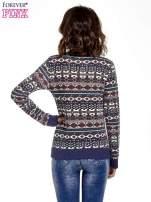 Granatowa bluza w azteckie wzory                                  zdj.                                  4