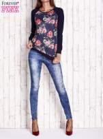 Granatowa bluza w kwiaty                                  zdj.                                  2