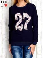 Granatowa bluza z cyfrą 27                                                                          zdj.                                                                         1
