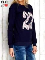 Granatowa bluza z cyfrą 27                                                                          zdj.                                                                         3