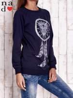 Granatowa bluza z motywem sowy i łapacza snów                                  zdj.                                  3
