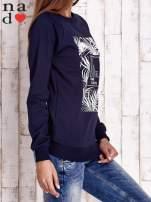 Granatowa bluza z napisem PARADISE                                  zdj.                                  3