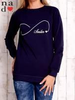 Granatowa bluza z napisem SMILER