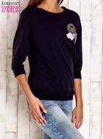 Jasnoróżowa bluza z naszywkami i ściągaczami                                                                          zdj.                                                                         3