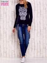 Granatowa bluza z sową                                                                          zdj.                                                                         2