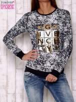 Granatowa bluza ze złotym motywem                                                                          zdj.                                                                         1