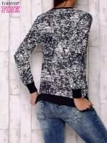 Granatowa bluza ze złotym nadrukiem 90                                                                          zdj.                                                                         4