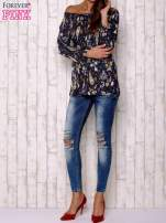 Granatowa bluzka z motywem paisley