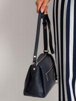 Granatowa damska torebka skórzana                                  zdj.                                  2