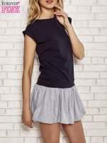 Granatowa dresowa sukienka tenisowa z kieszonką                                  zdj.                                  3