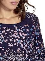 Granatowa koszula w łączkę z efektem ombre                                                                          zdj.                                                                         5