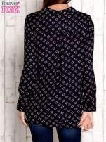 Granatowa koszula z morskim nadrukiem