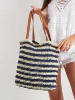 Granatowa pleciona torba                                  zdj.                                  4