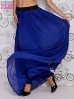 Granatowa spódnica maxi z ornamentowym paskiem                                  zdj.                                  2