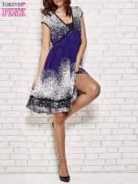 Granatowa sukienka baby doll w ciapki                                  zdj.                                  4