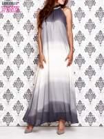 Granatowa sukienka maxi z wiązaniem na plecach                                  zdj.                                  1